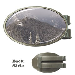 Mountains Money Clip (oval) by DmitrysTravels