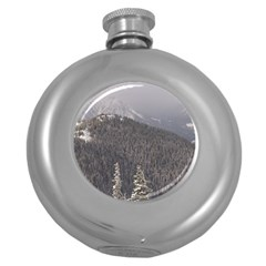 Mountains Hip Flask (round) by DmitrysTravels
