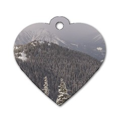 Mountains Dog Tag Heart (one Sided)  by DmitrysTravels