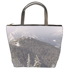 Mountains Bucket Handbag by DmitrysTravels