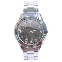 Mountains Stainless Steel Watch by DmitrysTravels