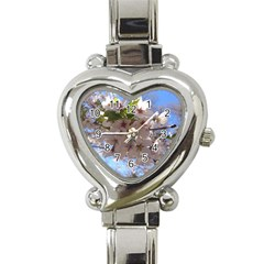 Sakura Heart Italian Charm Watch  by DmitrysTravels