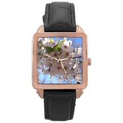 Sakura Rose Gold Leather Watch  by DmitrysTravels