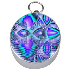 Peacock Crystal Palace Of Dreams, Abstract Silver Compass by DianeClancy