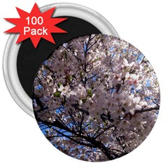 Sakura Tree 3  Button Magnet (100 Pack) by DmitrysTravels