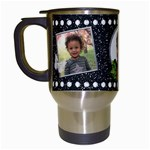 cluster mug - Travel Mug (White)