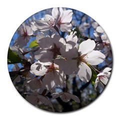 Cherry Blossoms 8  Mouse Pad (round) by DmitrysTravels