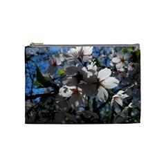 Cherry Blossoms Cosmetic Bag (medium) by DmitrysTravels