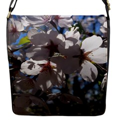 Cherry Blossoms Flap Closure Messenger Bag (small) by DmitrysTravels