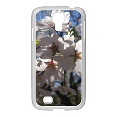 Cherry Blossoms Samsung GALAXY S4 I9500/ I9505 Case (White) by DmitrysTravels
