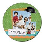fathers day - Round Mousepad