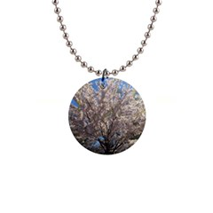 Cherry Blossoms Tree Button Necklace by DmitrysTravels