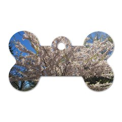 Cherry Blossoms Tree Dog Tag Bone (two Sided)