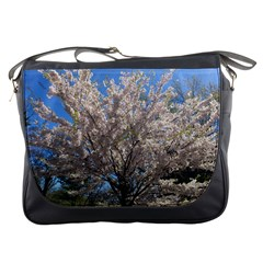 Cherry Blossoms Tree Messenger Bag by DmitrysTravels