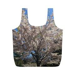 Cherry Blossoms Tree Reusable Bag (m) by DmitrysTravels