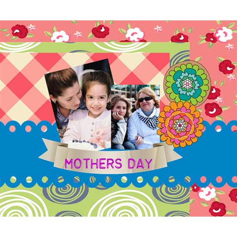 Mothers Day By Mom   Deluxe Canvas 14  X 11  (stretched)   Kbg4jimnp6hi   Www Artscow Com 14  x 11  x 1.5  Stretched Canvas