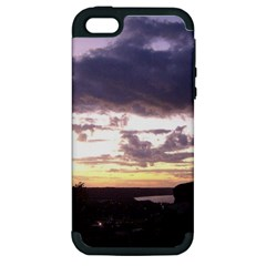 Sunset Over The Valley Apple Iphone 5 Hardshell Case (pc+silicone) by Majesticmountain