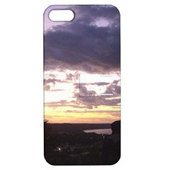 Sunset Over The Valley Apple Iphone 5 Hardshell Case With Stand by Majesticmountain