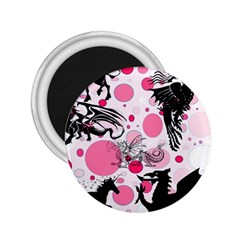 Fantasy In Pink 2 25  Button Magnet by StuffOrSomething
