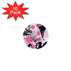Fantasy In Pink 1  Mini Button (10 Pack) by StuffOrSomething