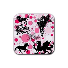 Fantasy In Pink Drink Coasters 4 Pack (square) by StuffOrSomething