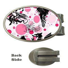 Fantasy In Pink Money Clip (oval) by StuffOrSomething