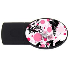 Fantasy In Pink 2gb Usb Flash Drive (oval) by StuffOrSomething