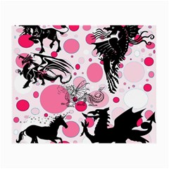 Fantasy In Pink Glasses Cloth (small, Two Sided) by StuffOrSomething