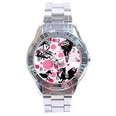 Fantasy In Pink Stainless Steel Watch by StuffOrSomething