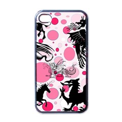 Fantasy In Pink Apple Iphone 4 Case (black) by StuffOrSomething
