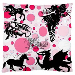 Fantasy In Pink Large Cushion Case (two Sided)  by StuffOrSomething