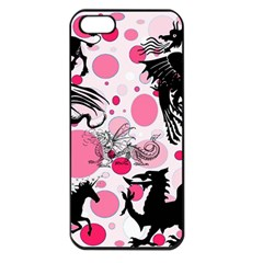 Fantasy In Pink Apple Iphone 5 Seamless Case (black) by StuffOrSomething