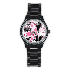 Fantasy In Pink Sport Metal Watch (black) by StuffOrSomething