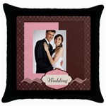 wedding - Throw Pillow Case (Black)