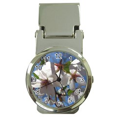 Cherry Blossoms Money Clip with Watch by DmitrysTravels