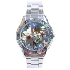 Cherry Blossoms Stainless Steel Watch by DmitrysTravels