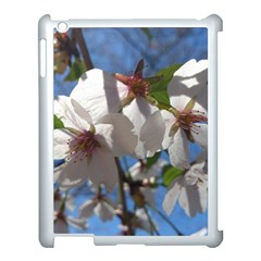 Cherry Blossoms Apple Ipad 3/4 Case (white) by DmitrysTravels