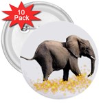 Elephant Sparkle 3  Button (10 pack)