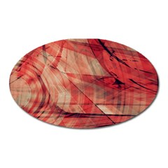 Grey And Red Magnet (oval) by Zuzu