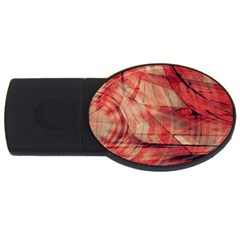 Grey And Red 1GB USB Flash Drive (Oval) by Zuzu