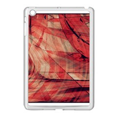 Grey And Red Apple Ipad Mini Case (white) by Zuzu