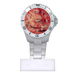 Grey And Red Nurses Watch