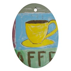 Kaffe Painting Oval Ornament by StuffOrSomething