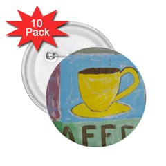 Kaffe Painting 2.25  Button (10 pack) by StuffOrSomething