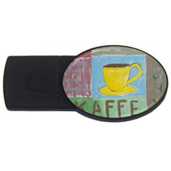 Kaffe Painting 4gb Usb Flash Drive (oval) by StuffOrSomething