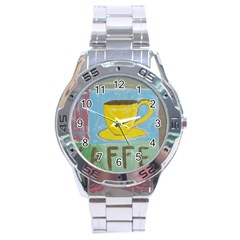 Kaffe Painting Stainless Steel Watch by StuffOrSomething
