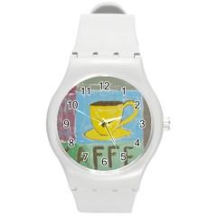 Kaffe Painting Plastic Sport Watch (medium) by StuffOrSomething