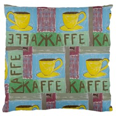 Kaffe Painting Large Cushion Case (single Sided)  by StuffOrSomething