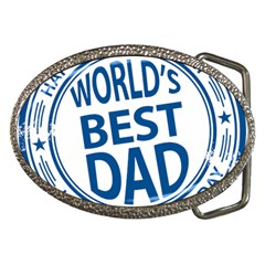 Fathers Day Rubber Stamp Effect Belt Buckle (oval) by Zandiepants