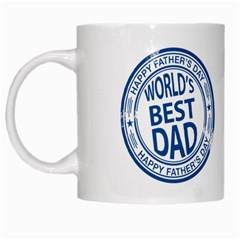Fathers Day Rubber Stamp Effect White Coffee Mug by Zandiepants